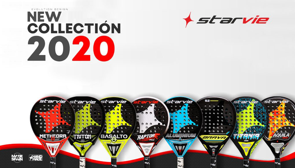 new collection padel starvie rackets 2020